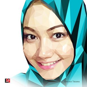 Low Polygon Portrait - Daiyan Trisha