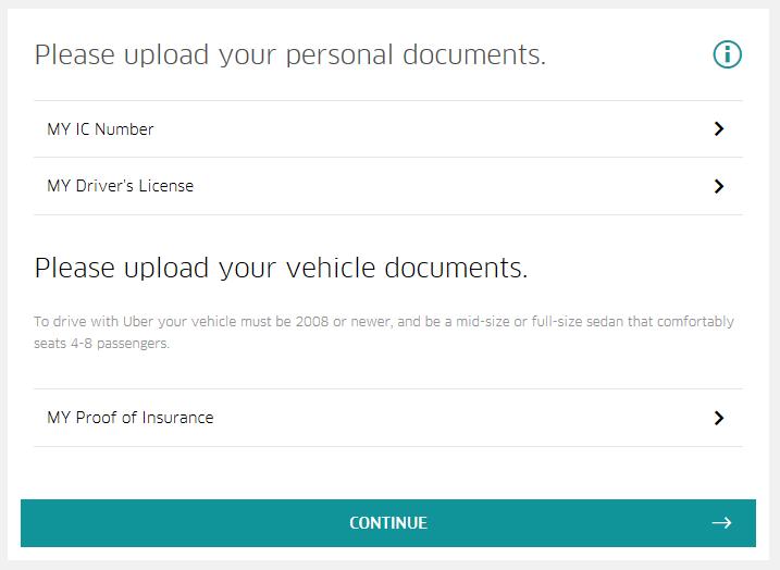 Cara Daftar Pemandu Uber - Step 4