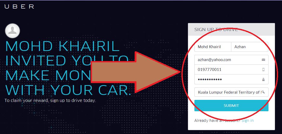 Cara Daftar Pemandu Uber
