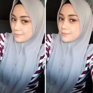 Gambar Cun Mia Ahmad Dengan Tudung Bawal