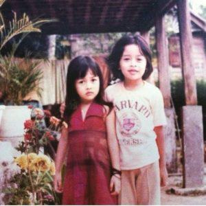 Gambar Rita Rudaini dan Abangnya Semasa Zaman Kanak-kanak (Paling Kiri Sekali)