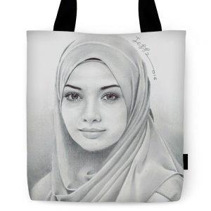 Portrait Gadis - Neelofa Tote Bag