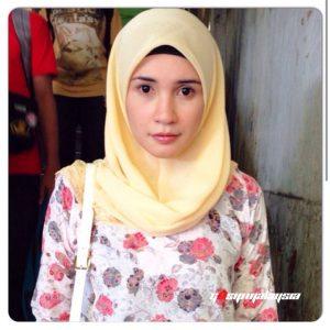 Wajah Pelakon Izreen Azminda Tanpa Make Up