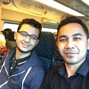 Hafiz Hamidun Bergambar Dalam Train
