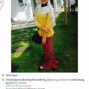 Instagram Intan Ladyana Bertudung Ayu