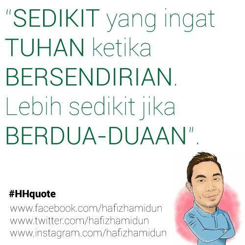 Kata Motivasi Ketuhanan Hafiz Hamidun