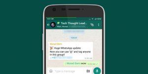 WhatsApp dengan Fungsi Tagging Baru