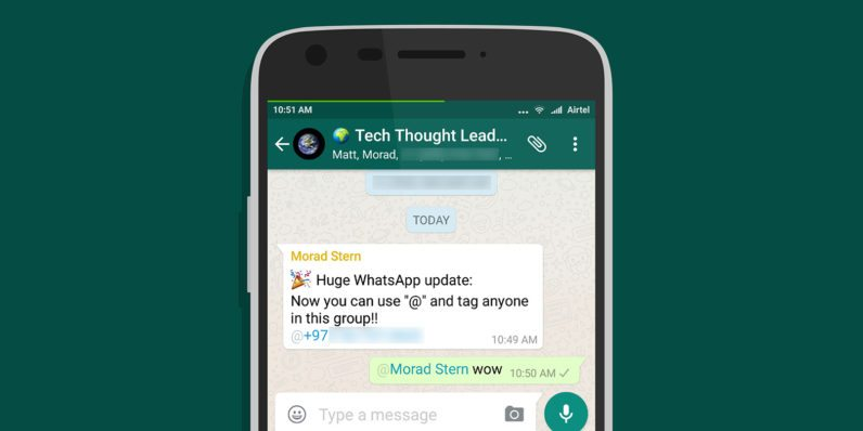 Whatsapp Tagging