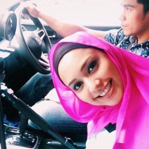 Gambar Selfie Ainul Aishah Dalam Kereta