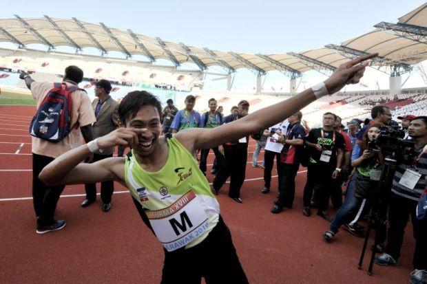 Khairul Hafiz Jantan Dengan Gaya Usain Bolt