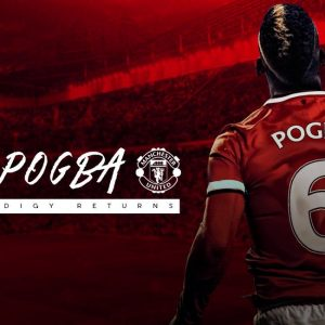 Paul Pogba Manchester United No6 Desktop Background