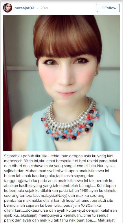 Pendedahan Berani Nur Sajat Di Instagram