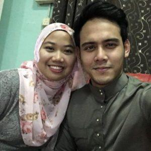 Selfie Hafidz Roshdi Dengan Isteri Tersayang