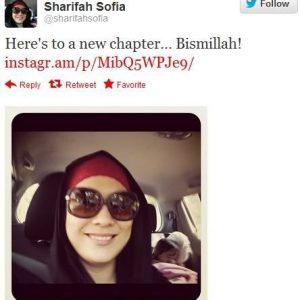 Tweet Sharifah Sofia Mula Bertudung