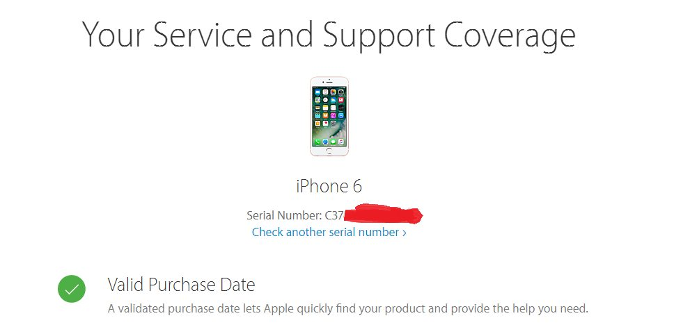 Check IPhone Serial Number Step 2