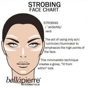 Strobing Face Chart Makeup Tutorial
