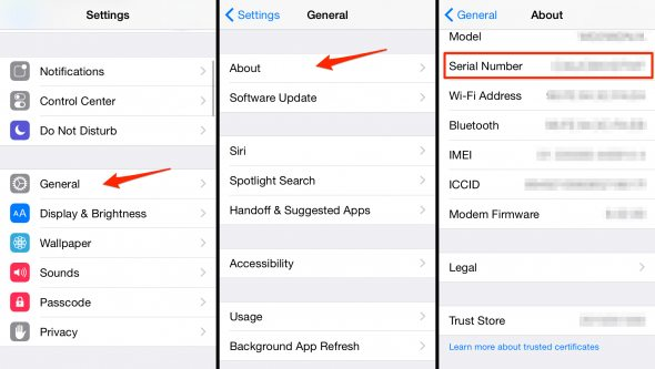How To Check Your IPhone Serial Number On The Device