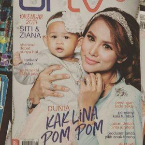 Elly Mazlein Kak Lin Pom Pom Majalah URTV Cover