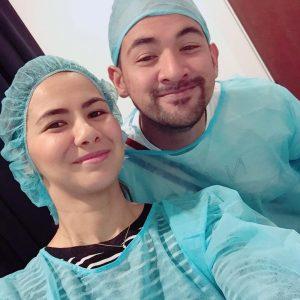 Noor Nabila Selesai Pembedahan Sambil Ditemani Sharnaaz Ahmad