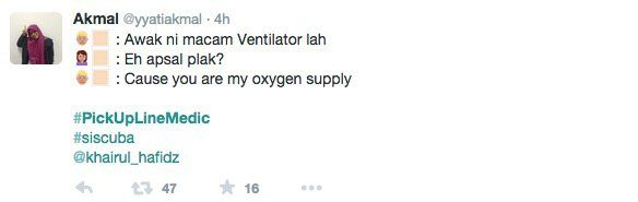 Pickup Line Medic Part 3 Awak Macam Ventillator