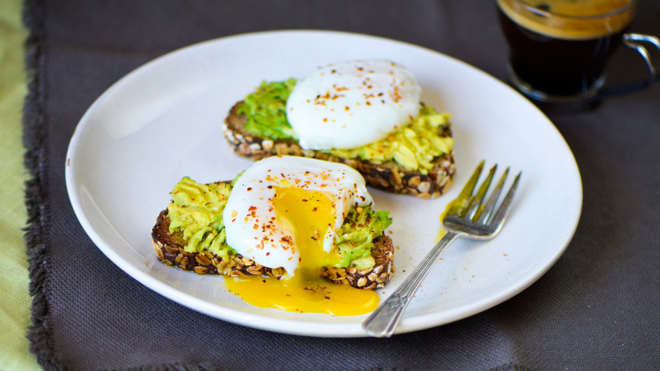 Roti Avocado Egg Toast