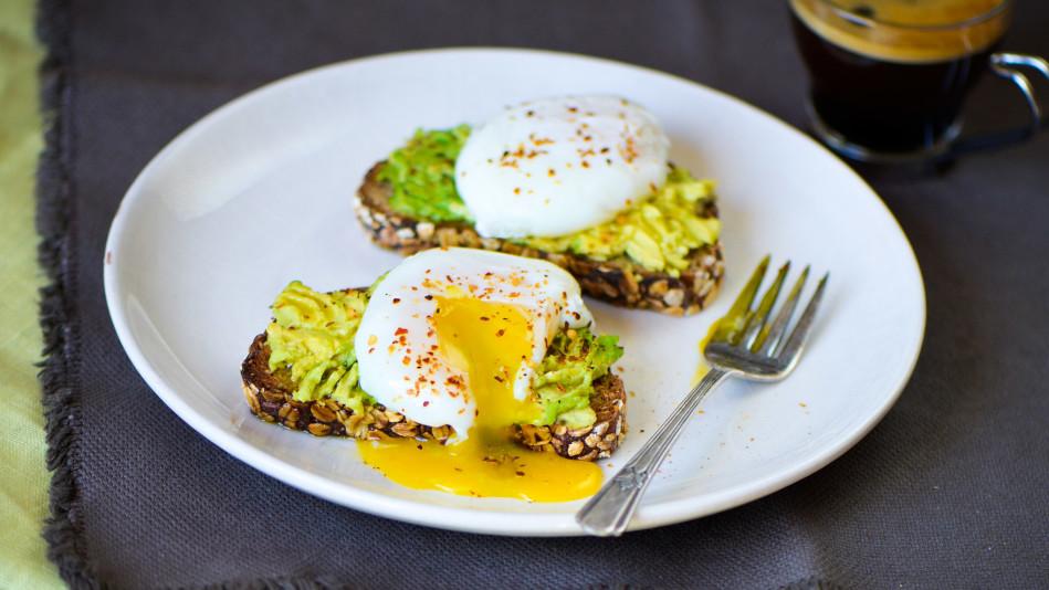 Roti Avocado Egg Toast