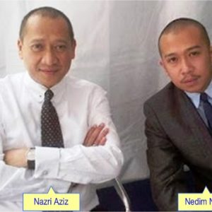Gambar Nedim Dan Ayahnya Nazri Aziz