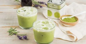 Cara Buat Ais Lavender Matcha Green Tea Latte