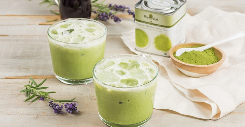 Iced Lavender Matcha Green Tea Latte