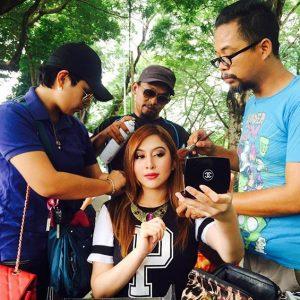 Miera Liyana Di Lokasi Penggambaran Drama