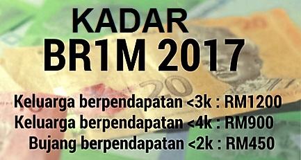 Kadar Bayaran BR1M 2017 Mengikut Kategori