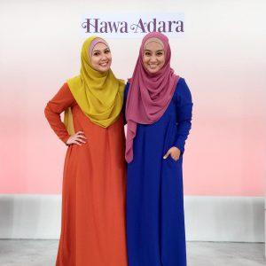 Syakirin Husnal Dan Fafau Berpakaian Jubah Busana Muslimah