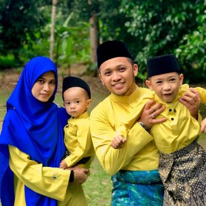 Gambar Imam Muda Asyraf Dan Keluarga Seronok Beraya