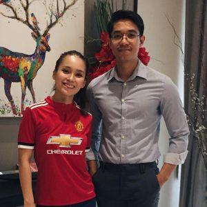 Jasmine Suraya Chin Peminat Manchester United