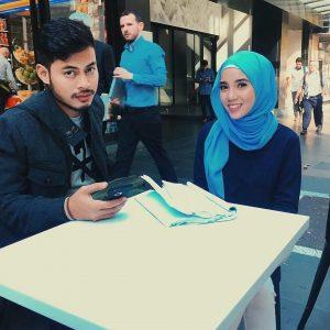Aksi Mesra Syafie Naswip Dan Sweet Qismina