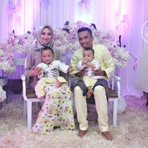 Fad Bocey Dan Isteri Di Majlis Akikah Anak Kembarnya