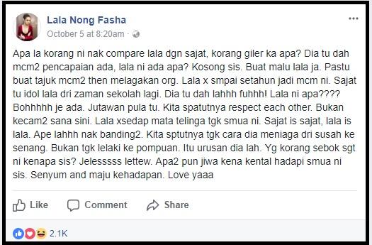 Respond Riz Ulala Tentang Nur Sajat