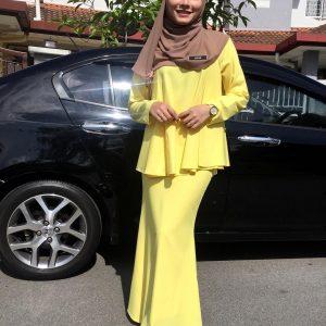 Cantik Tak Fesyen Serba Kuning Aishah Azman