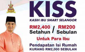 Cara Mohon Kasih Ibu Smart Selangor (KISS)