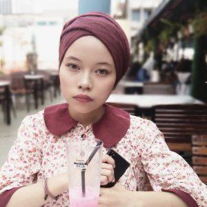Gaya Fesyen Tudung Rose Nicotine