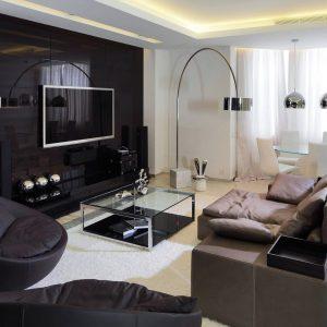 Dekorasi Moden Ruang Tamu Dengan TV