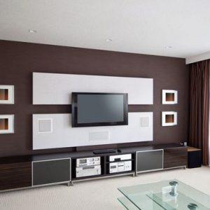 Design Rak TV Serba Hitam Kelabu