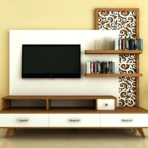 Interior Design Rak TV Dengan Background Menarik
