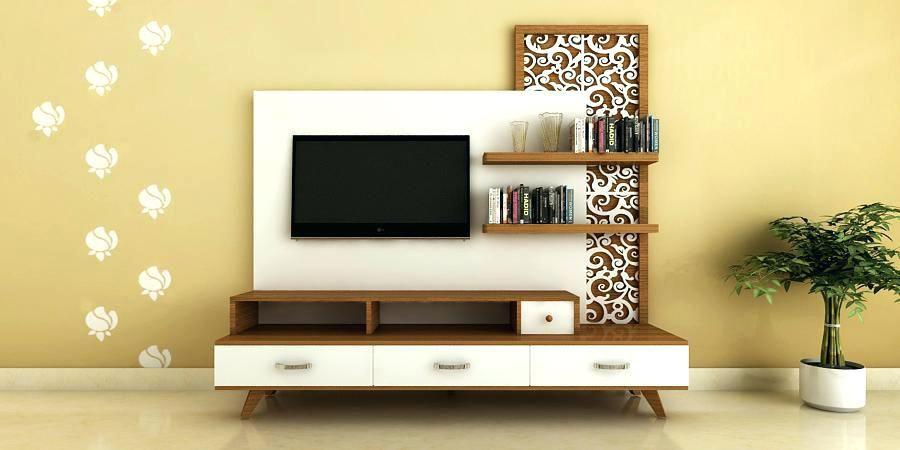Interior Design Rak TV Dengan Background Menarik