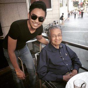 Nafiez Zaidi Bersama Tun Mahathir