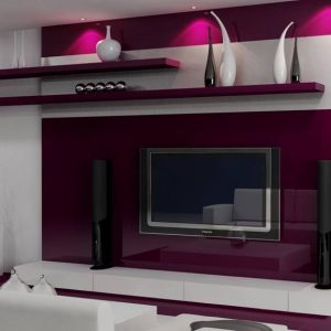 Rak TV Moden Dengan Sound System