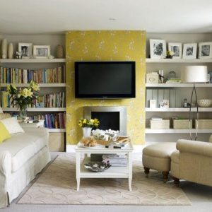 Ruang TV Yang Dipenuhi Dengan Buku