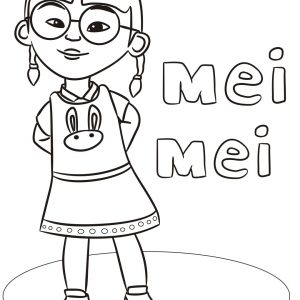 Mei Mei Coloring Pages