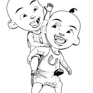 Photo Coloring Upin Ipin