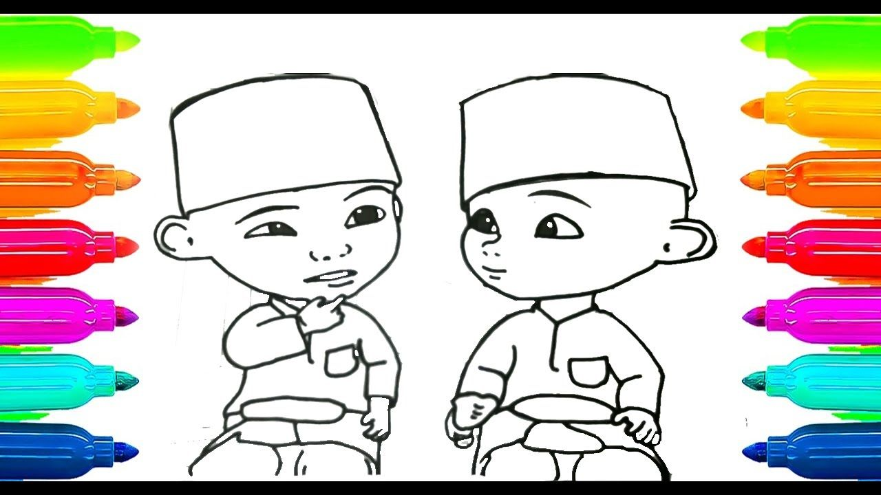 Upin Ipin Coloring Cover Photo